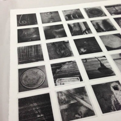 lexicon: anderson: press view: photogravure etching (25 polymer plates) chine colle onto BFK Rives paper 30 x 32 in