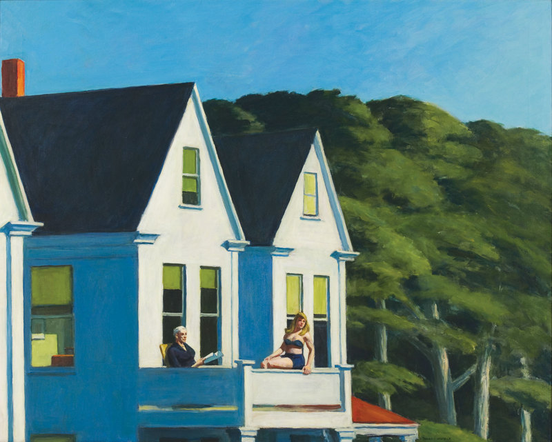 Edward Hopper (1882–1967), Second Story Sunlight, 1960. Oil on canvas, 40 3/16 × 50 1/8in. (102.1 × 127.3 cm). Whitney Museum of American Art, New York