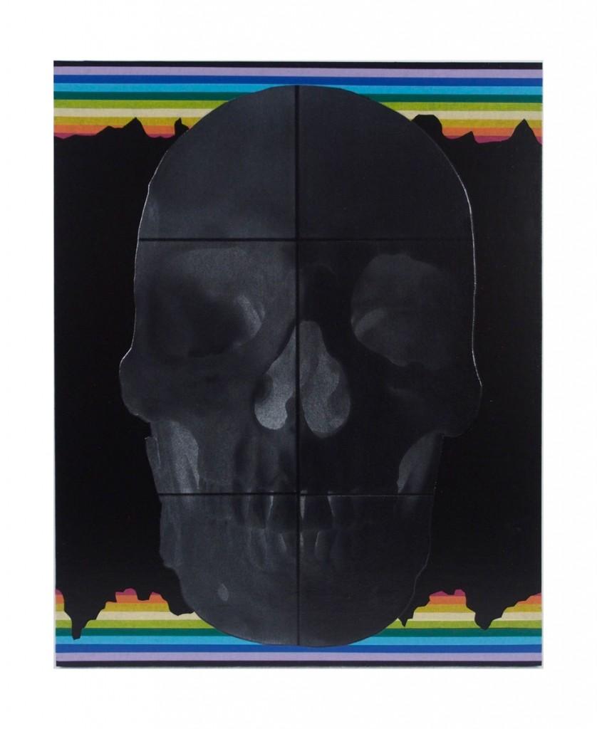 "Life 16"" x 20"" Mixed-media with acrylic, washi tape and photogravure on hardboard."
