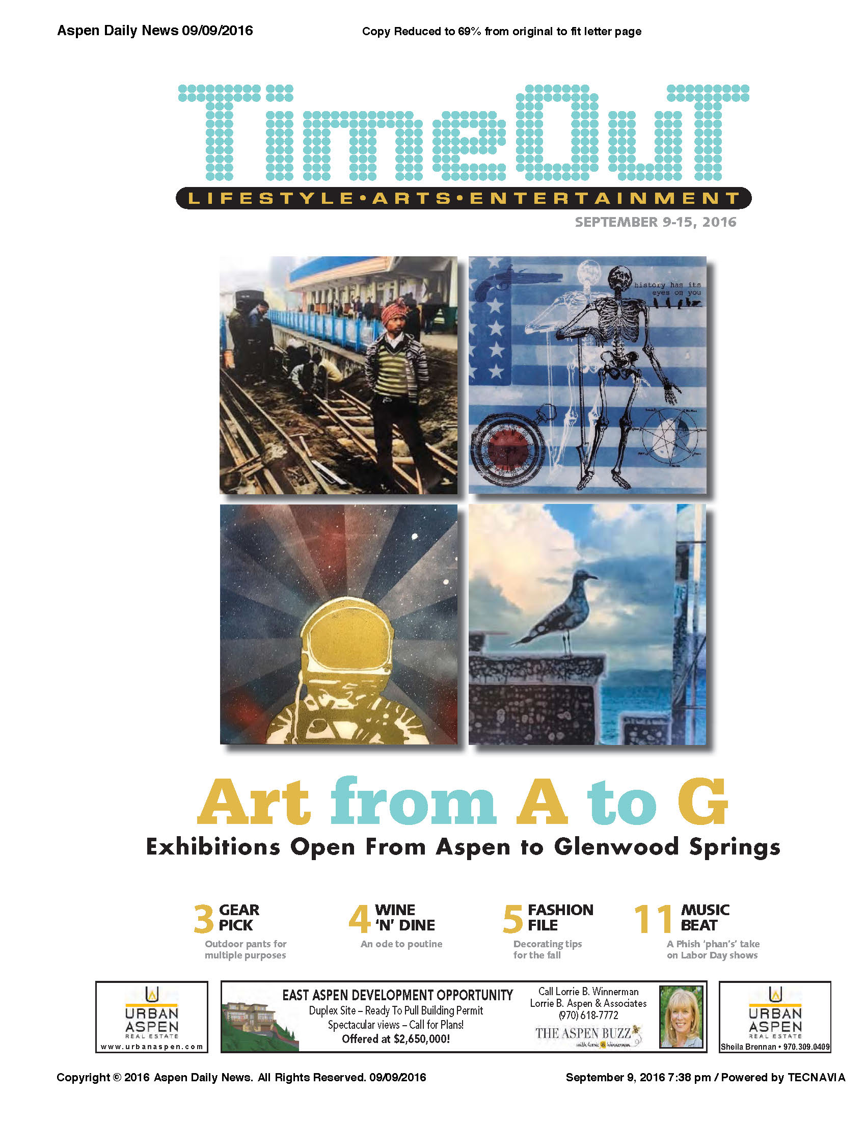 The ArtBase 10x10 cover of Aspen Daily News TimeOut