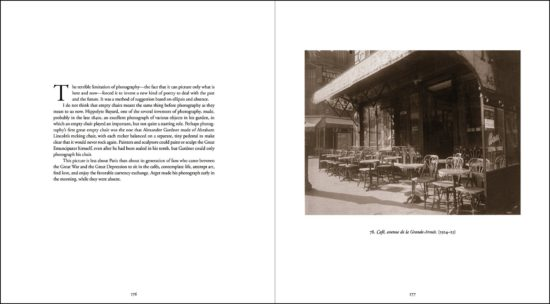 "A spread from ""Atget,"" by John Szarkowski, with a photograph by Eugène Atget. Credit From Museum of Modern Art, New York"