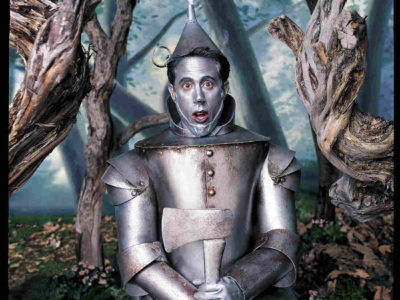 Mark Seliger says a sense of humor is what differentiates his portraits. Above, comedian Jerry Seinfeld as the Tin Man from The Wizard of Oz. Mark Seliger