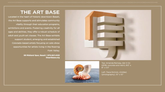 Aspen Peak covers The Art Base and upcoming exhibition