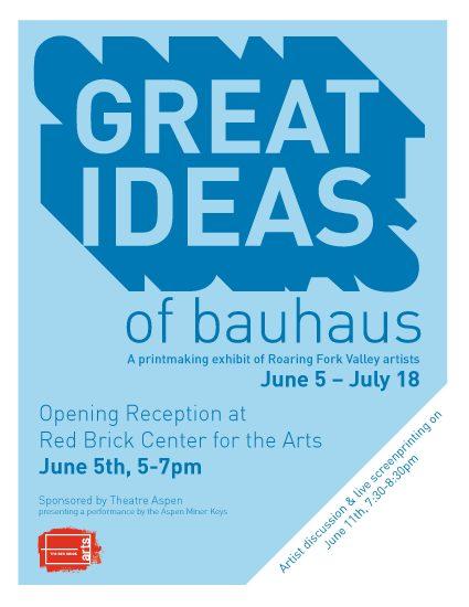 Great Ideas of Bauhaus printmaking exhibition