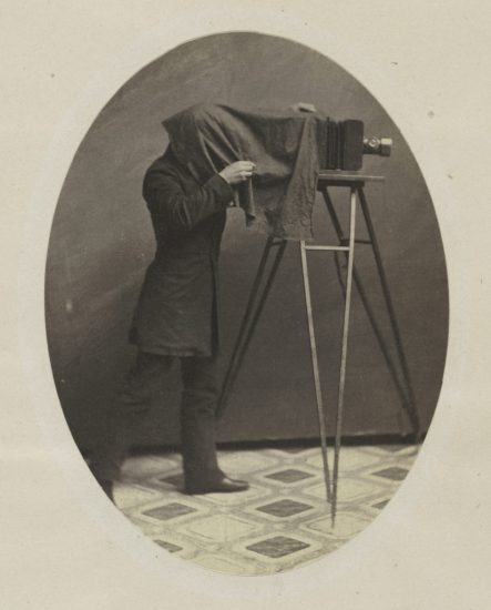 Unknown American, Studio photographer at work (ca. 1855). Courtesy of the Metropolitan Museum of Art.